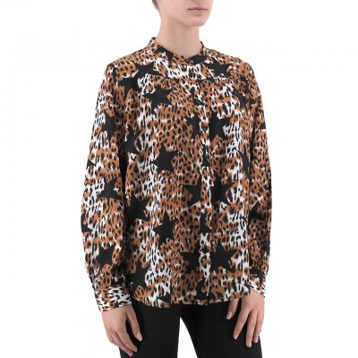Anonyme | Veila Brown Shirt | ANY_A149FT138_LEOPARD