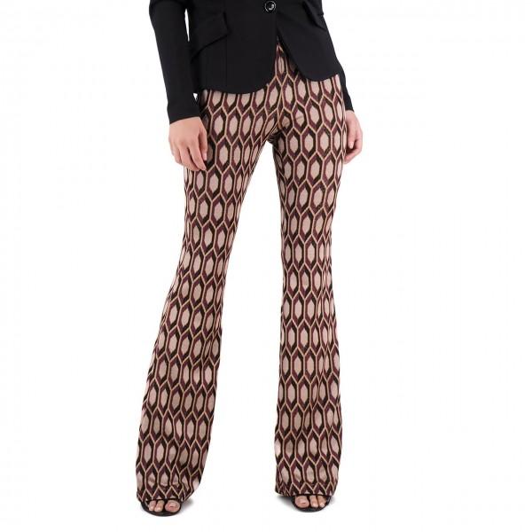 Amami | Pantalone Zampa Jacquard Multi | AMI_PA19037DJA