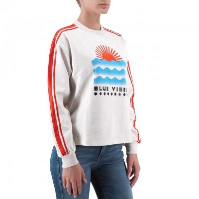 Scotch & Soda | Cropped Artwork Sweater Beige | S&S_150674 0B