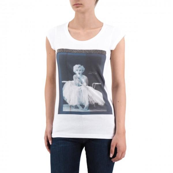 Ko Samui | Marilyn Monroe Shine T-Shirt Bianco | KSU_TA 520 TULLE