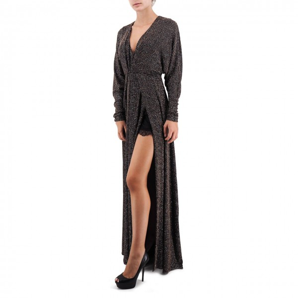 Aniye By | Long Dress Glitter, Nero | ANI_181182 01936