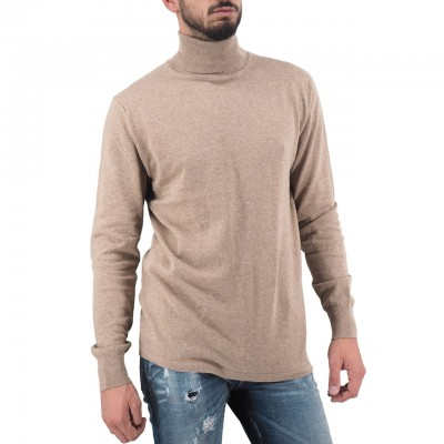 Scotch & Soda | Classic Turtleneck Pull, Beige | S&S_152355 0760