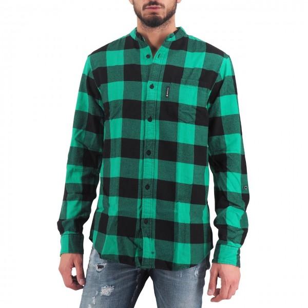 Scotch & Soda | Flanner Gingham Shirt, Verde | S&S_152153 0218