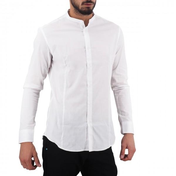 Daniele Alessandrini | Camicia Koreana Slim Fit Bianco | DAL_C1615N8243907_2