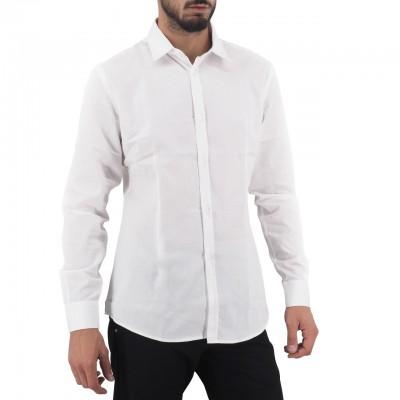 Daniele Alessandrini | Camicia Basica Collo Piccolo, Bianco | DAL_C1657R12003907