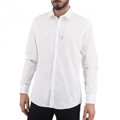 Daniele Alessandrini | Camicia Ciondolo, Bianco | DAL_C6570N8243907 WH