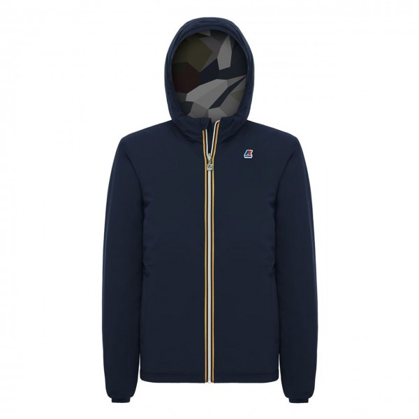 K-Way | Jacques Warm Double Graphic, Blu | KWAY_K00A4L0_910_B