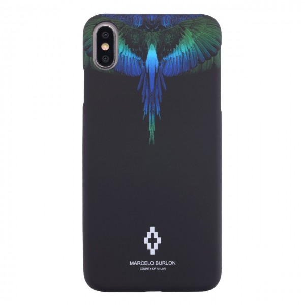 Marcelo Burlon | Cover Blue Wings iPhone XR Nero | MBU_MXSM-BLUWINGS