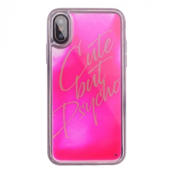 Benjamins | Cover Cute But Psycho iPhone XS, X Rosa | BEN_BJXS-LIQCUTE