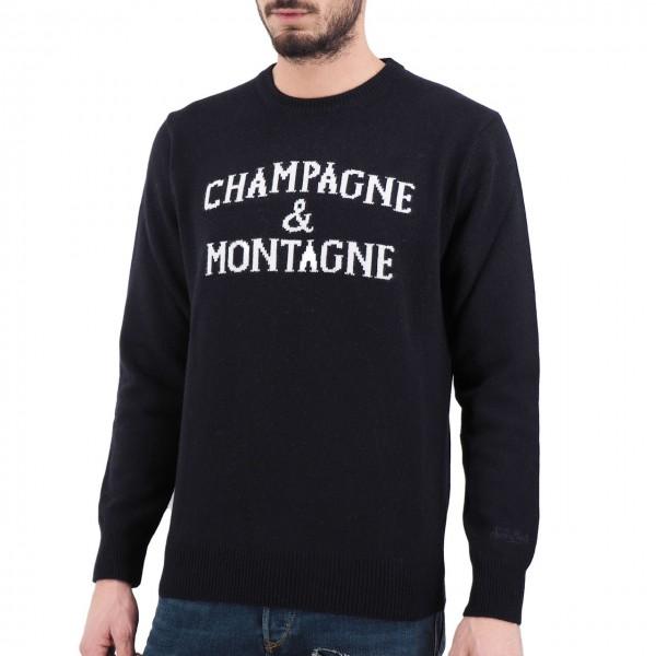 MC2 Saint Barth   Round Neck Sweater Montagne & Champagne, Blu   MC2_MNCH61 MONCHAMP 61