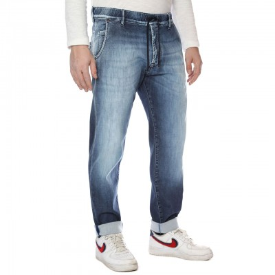 Dirty Paint   Jeans Rolling, Blu   DRP_19FWDYPPAN18 WH35 L177
