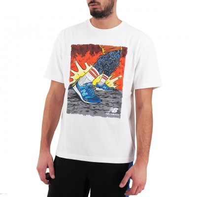 New Balance | Artist Pack Stride T-Shirt, Bianco | NBMT93526WT