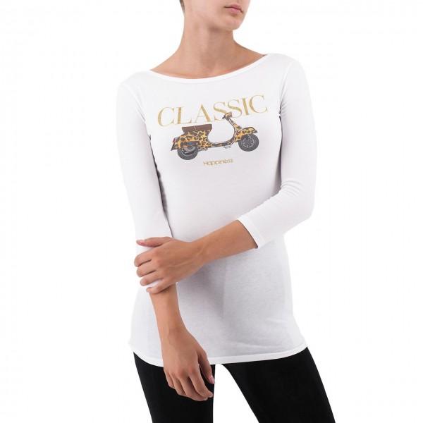 Happiness | T-Shirt Ada Strass, Bianco | HAP_ADA_SS3062