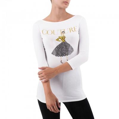 Happiness | Ada T-Shirt, Bianco | HAP_ADA_MX3061