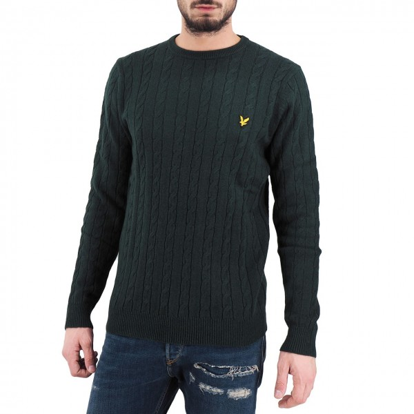 Lyle & Scott | Cable Jumper Verde | LYS_MLSKN732V Z597
