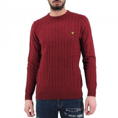 Lyle & Scott | Cable Jumper Rosso | LYS_MLSKN732V 477