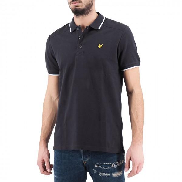 Lyle & Scott | Nylon Panel Polo Shirt Nero | LYS_MLSSP1119V 572