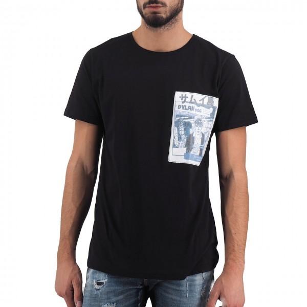 Ko Samui | Dylan Dog Investigator Rice Paper Patch T-Shirt Nero | KSU_TT 587 INVESTIGATOR