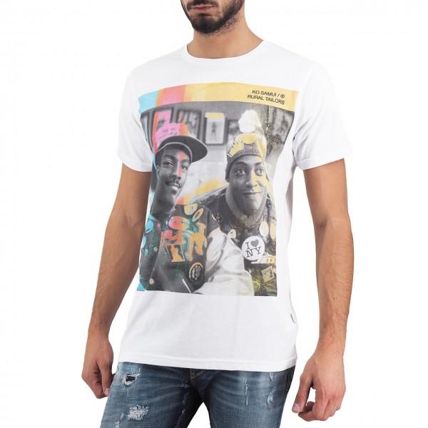 Ko Samui | Eddie Murphy Graphic T-Shirt Bianco | KSU_TT 556 MURPHY