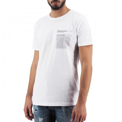 Ko Samui | The Old Man Library T-Shirt Bianco | KSU_TT 604 THE OLD MAN