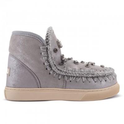 Mou | Eskimo Sneaker Rhinestone, Silver | MOU_MU.FW111001B/DUSIL