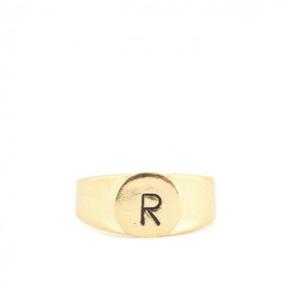 Gian Paolo Fantoni   Ring Letter R, Gold   FNT_ANER