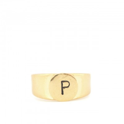 Gian Paolo Fantoni | Ring Letter P, Gold | FNT_ANEP