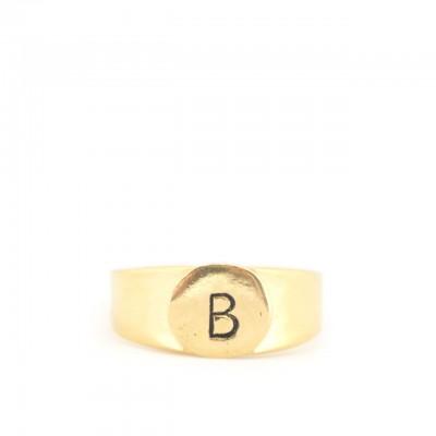 Gian Paolo Fantoni | Ring Letter B, Gold | FNT_ANEB