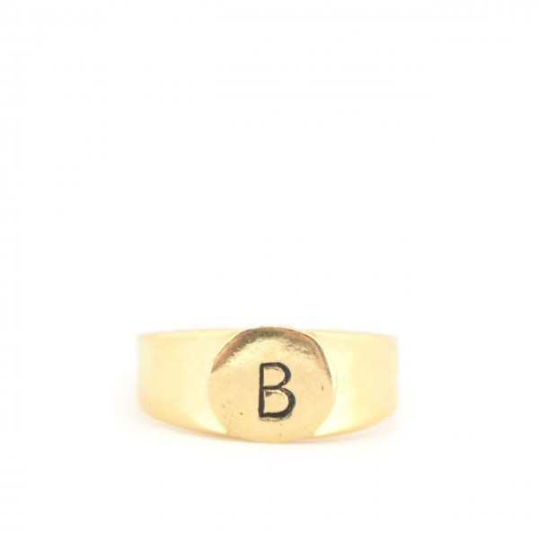 Gian Paolo Fantoni | Ring Letter B, Gold | FNT_ANEB