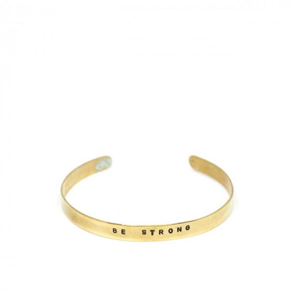 Gian Paolo Fantoni | Bracelet Headband 0.6 cm Be Strong, Gold | FNT_BRA06BESTRONG