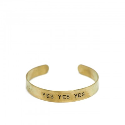 Gian Paolo Fantoni | Band Bracelet 1 Cm Yes Yes Yes, Gold | FNT_BRA1YES
