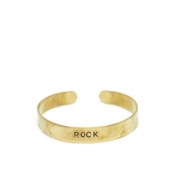 Gian Paolo Fantoni   Bracciale Fascia 1 Cm Rock, Oro   FNT_BRA1ROCK
