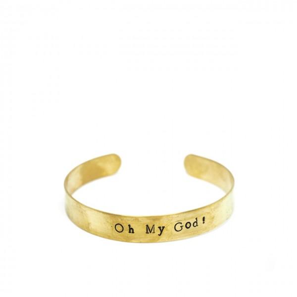 Gian Paolo Fantoni   Bracelet Headband 1 Cm Oh My God!, Gold   FNT_BRA1OMG