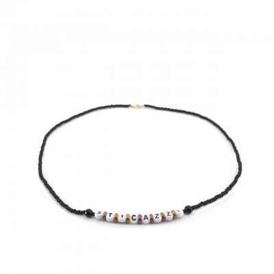 Gian Paolo Fantoni | Write Me Necklace With Sti Cazzi Beads, Black | FNT_COLWRITEMEPSTICAZZI