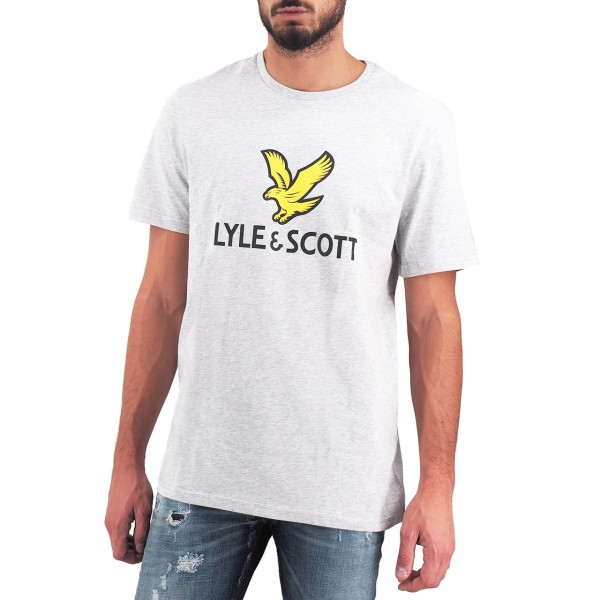 Lyle & Scott   Logo T-Shirt Grigio   LS_TS1020V_D24