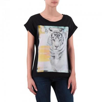 Ko Samui | Snow Tiger Stitch T-Shirt Nero | KSU_TE 525 SNOW TIGER