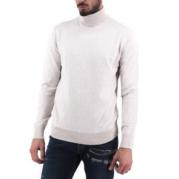Scotch & Soda | Melange Sweater High Neck, Grey | S&S_152864 0171
