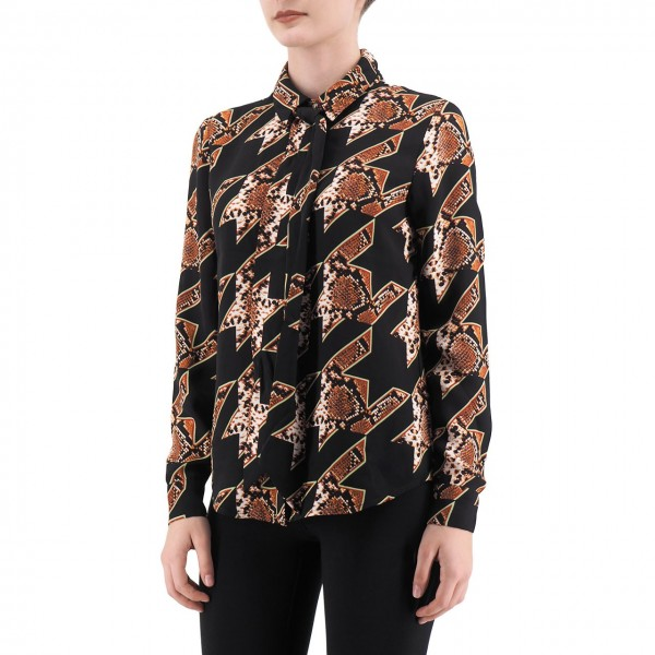 Scotch & Soda | Blusa Con Fiocco Al Collo, Nero | S&S_152477 91