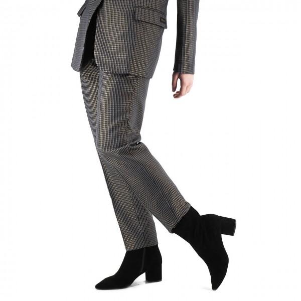 Scotch & Soda | Pantaloni A Quadri In Lurex, Nero | S&S_152677 0600