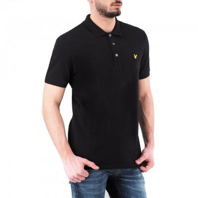 Lyle & Scott | Slim Stretch Polo Shirt, Nero | LYS_SP919V Z865