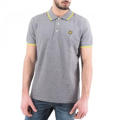 Lyle & Scott | Seasonal Tipped Polo Shirt, Grigio | LYS_SP800VTR Z915