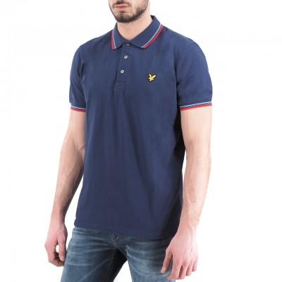 Lyle & Scott | Seasonal Tipped Polo Shirt, Blu | LYS_SP800VTR Z857