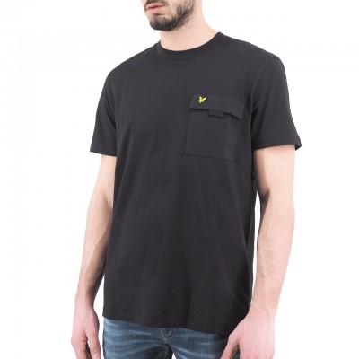 Lyle & Scott | Chest Pocket T-shirt, Nero | LYS_TS1236V Z865