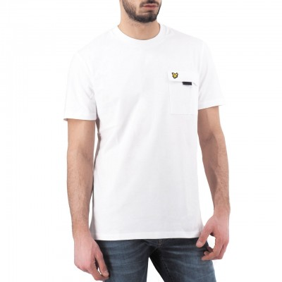Lyle & Scott | Chest Pocket T-shirt, Bianco | LYS_TS1236V 626