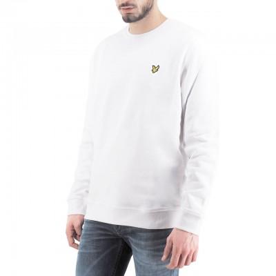 Lyle & Scott | Crew Neck Sweatshirt, Bianco | LYS_ML424VTR 626