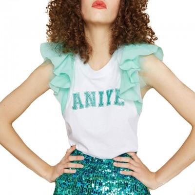 Aniye By | T-Shirt Wings, Bianco | ANI_185075 00213