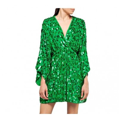 Replay | V-neck Dress, Green | RPY_W9570 .000.83678 .020