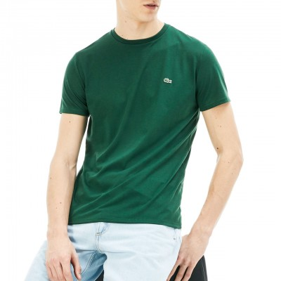 Lacoste | T-Shirt Girocollo In Jersey, Verde | LAC_TH6709 00 132