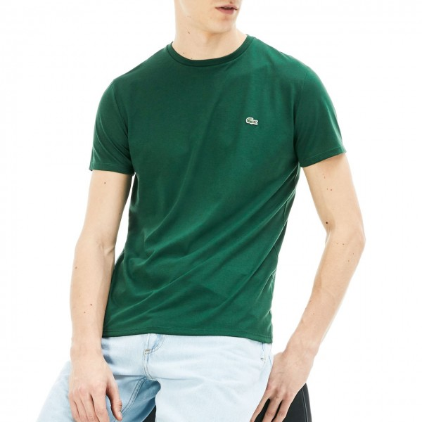 Lacoste   T-Shirt Girocollo In Jersey, Verde   LAC_TH6709 00 132