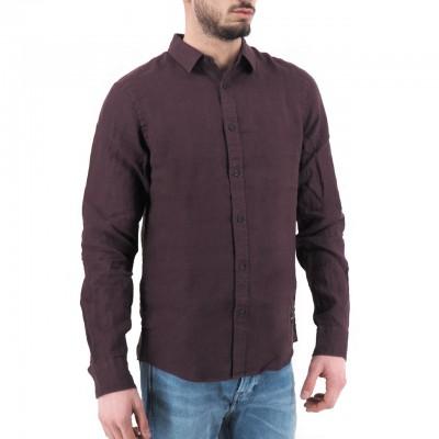 Scotch & Soda | Classic Linen Dress Shirt, Rosso | S&S_155139 3499